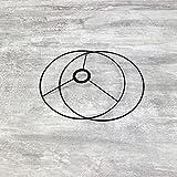 Lealoo Juego de anillos para colgar o colocar en el día (20 cm), color negro