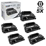 LD Compatible Toner Cartridge Replacement for HP 81A CF281A (Black, 5-Pack)