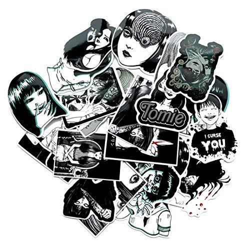 ZHXMD Pegatinas de Anime, Maleta de álbum de Recortes, monopatín, Equipaje para Ordenador portátil, Grafiti, Divertida decoración Fresca, Paquete de Pegatinas Impermeables, 21 Piezas