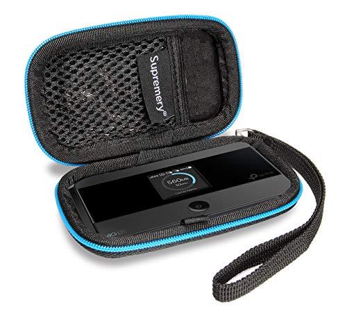 Supremery Case für TPLink M7350 WLAN Router Case Tasche Schutzhülle Etui mit Netztasche für weiteres Zubehör für TP-Link M7350