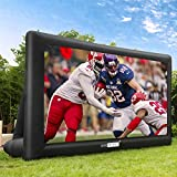 VIVOHOME 20ft Indoor and Outdoor Inflatable Blow up Mega Movie Projector Screen with Carry Bag for Front and Rear Projection