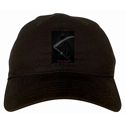 Kings Of NY Till The Death Grim Reaper 6 Panel Dad Hat Cap Black