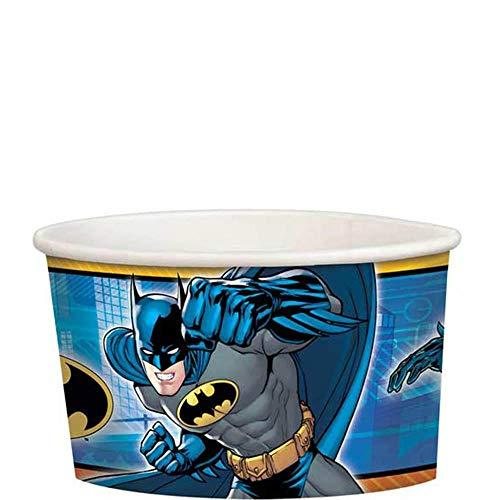 amscan 34085 Tazas de regalo de papel Batman, Azul/Gris