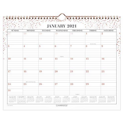 Cambridge 2021 Wandkalender, 38,1 x 30,5 cm, Medium, WorkStyle, Pink Dot (1479D-707-21)