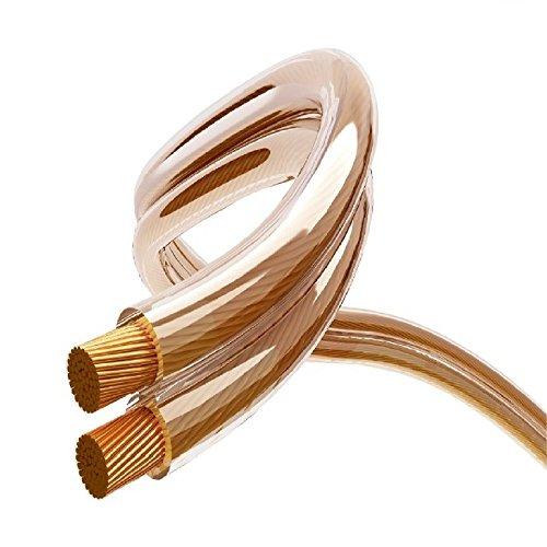 Maclean luidsprekerkabel zuurstofvrij koperen audio kabel luidspreker transparant volledig koper 100m - 2x4mm 14AWG