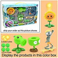 Plants vs Zombies Toys Set Gatling Pea Shooter Action Figure Model Toy Gift For Children PVZ Set ofCombination