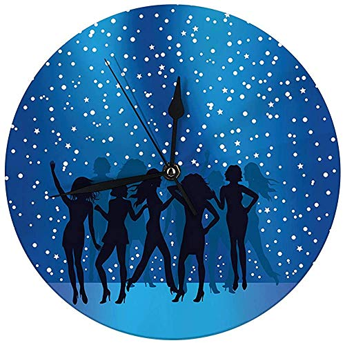 N/A Moderne wandklok Noble Partymuziek Dj Dance decoratieve ronde stille klok