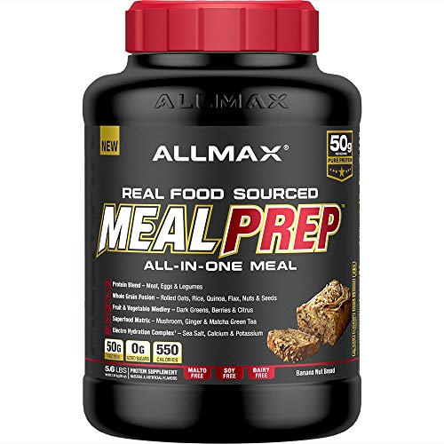 Allmax - Meal Prep - All-in-one-Meal - Banana Nut Bread - 5.6 Lbs - Soy Free - Dairy Free