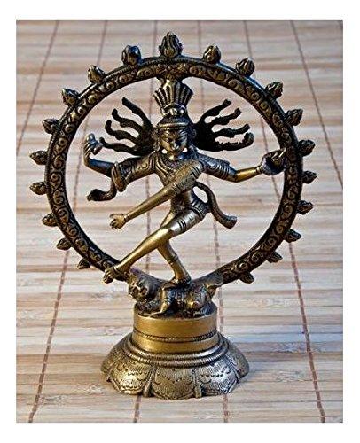 dsnetz Shiva Figur Messing 20 cm | Indischer Gott tanzende Shiva Nataraja im Rad | Hinduismus Religiöse Statue Herr des Tanzes Natraj Dekofigur | Esoterik Geschenke günstig online kaufen