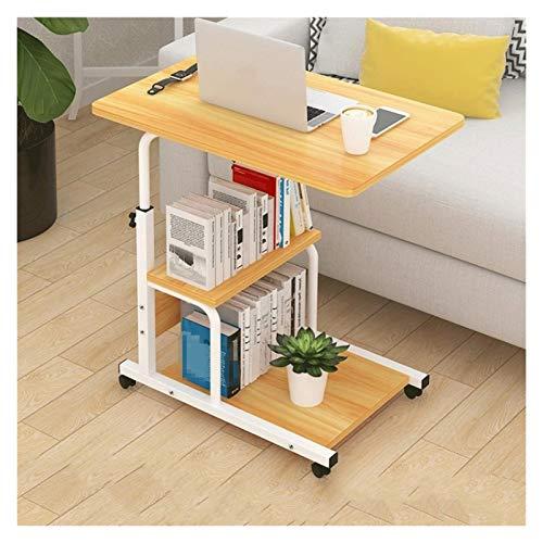 RTYU Mesa de escritorio para ordenador portátil, de diseño simple, de escritorio, de altura ajustable, sofá, portátil, portátil, escritorio, mesa auxiliar de hierro (color: naranja)