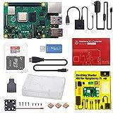 KEYESTUDIO Raspberry Pi 4 Model B 4GB RAM+32GB SD Card Versión Actualizada de Raspberry pi 3b+ con Micro HDMI,BT 5.0,Doble WiFi,2*USB 3.0/USB 2.0, Adaptador con Interruptor