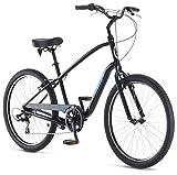Schwinn Sivica 7 Cruiser Bike for Men with 26-Inch Wheels in Black, 7-Speed Shimano Drivetrain and...