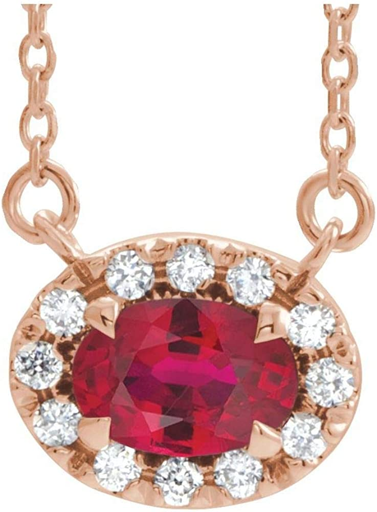 Solid 14k Rose Gold All stores are sold Solitaire Created Max 58% OFF and Diamond 10 Cttw 1 Ruby