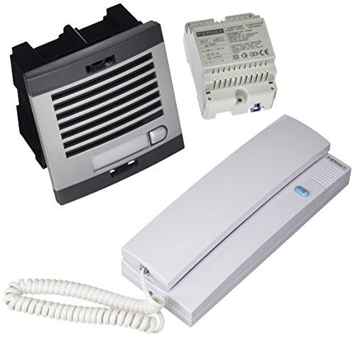 Fermax 6201 - Kit portero automático, 1 línea, color gris y negro