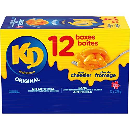 Dîner Kraft Dinner Macaroni Fromage Original 225g, Paquet de 12 - 0