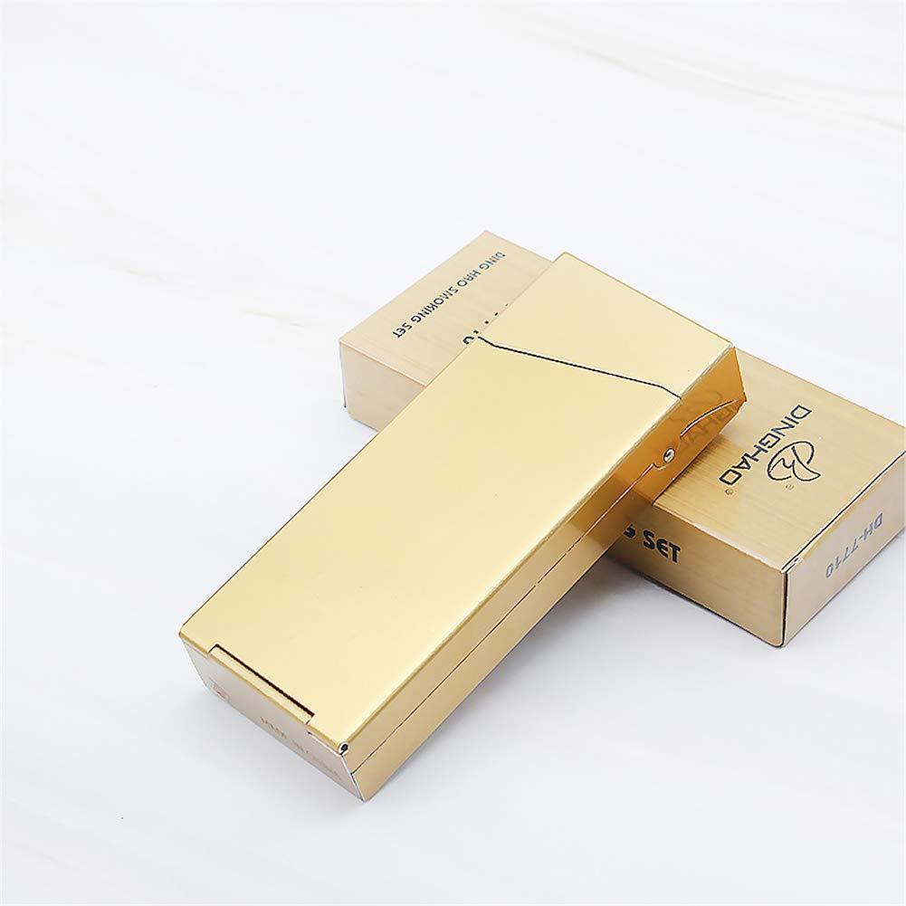 JSCFYJ Caja de Cigarrillos Cilindro Estilo Alargado Gire la Tapa Metal Poseedor para 20 Cigarrillos (8 Colores),Gold: Amazon.es: Deportes y aire libre