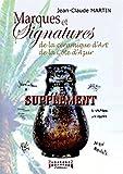 Supplément marques et signatures de la céramique d'art de la Cote d'Azur