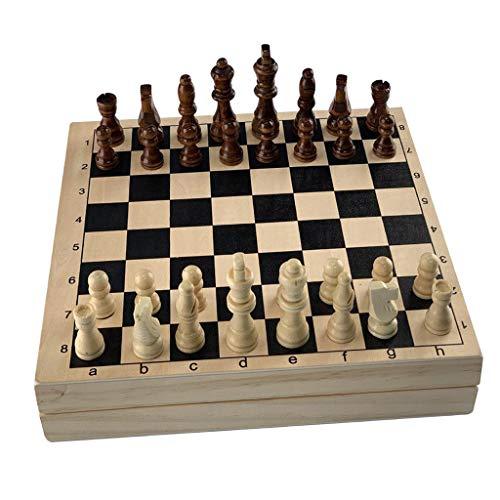 SM SunniMix Portable Fast Sling Puck Juego Paced y Juego de ajedrez de Madera Foosball Familiar Partido Juegos de Mesa Juguetes para niños