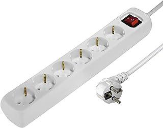 comprar comparacion Hama 30384 - Regleta de 6 Tomas con Interruptor, 230 V, 1,4 m, Blanco