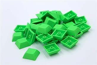 Blue Hat 1U DSA Blank Printed Keycaps PBT Keycaps for Mechanical MX Switches Mechanical Keyboard (Green)