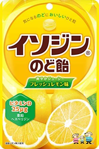 UHA味覚糖 イソジンのど飴 フレッシュレモン味 75g ×6袋