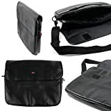 DURAGADGET PU Leather Black Pouch - Compatible with Samsung Series 9 NP900X4C-A07US Ultrabook | 900X4B | 900X4C | 550P5C | RV515 | Chronos NP700Z5A & 355V5S
