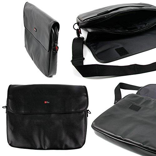 DURAGADGET Black PU Leather Laptop Pouch - Compatible with ASUS X551C 4GB 500GB | K53SV-SX126V | X55VD-SX046H & Polyvalent K55VJ-SX038H 15.6' Laptop