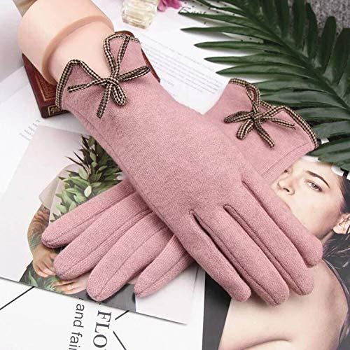 LTMZAS Elegante Damen Winterhandschuhe Warme Damen Kaschmir Wolle Touchscreen Handschuhe-D3