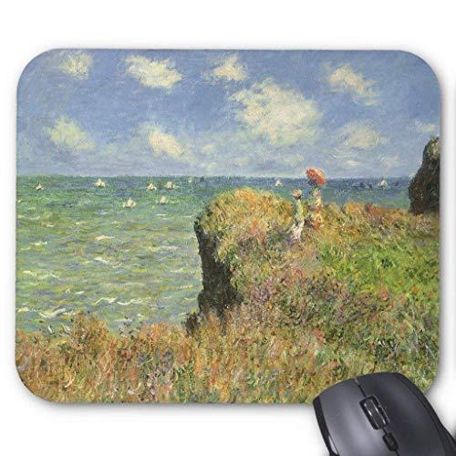 Accesorios de ordenador pulsera antifricción Cliff Walk at Pourville por Claude Monet Mouse Pad 18X22