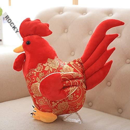 Spuik Gallo rojo grande muñeca gallo mascota felpa