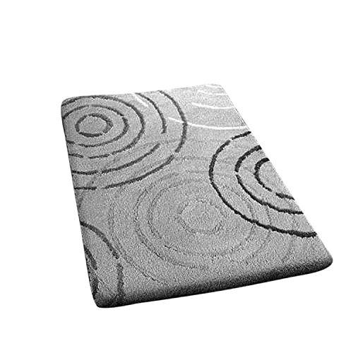 Kleine Wolke Badteppich, Acryl, Grau/Weiß, 50 x 60 cm