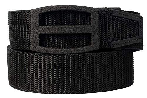 Nexbelt Ratchet Technology EDC Titan Black PreciseFit Nylon Gun Belt for Concealed Carry Unisex