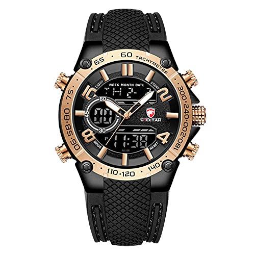 N\C Reloj para Hombre, Relojes Deportivos Militares para Hombre, Reloj de Marca de Lujo Superior para Hombre, Reloj de Pulsera de Doble Pantalla, Reloj Impermeable para Exteriores del ejército