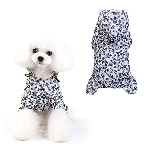 Uymaty Cappotto antipioggia per animali con cappuccio e foro del collare regolabile,impermeabile per animali con elastico,impermeabili per cani per cani di taglia piccola media(XL)