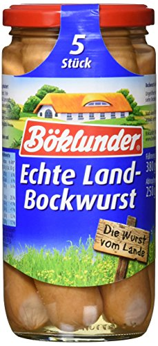Böklunder  Echte Land-Bockwurst, 12er Pack (12 x 250 g)