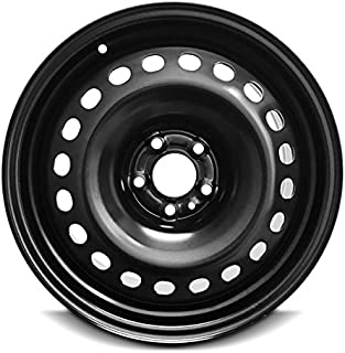 Road Ready Car Wheel For 2014-2018 Jeep Cherokee 17 Inch 5 Lug Black Steel Rim Fits R17 Tire - Exact OEM Replacement - Full-Size Spare