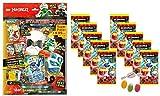 Blue Ocean Lego Ninjago Serie 5 Next Level -1x Starter + 10 Booster Tüten Trading Cards zusätzlich erhalten Sie 1 x Fruchtmix Sticker-und-co Bonbon
