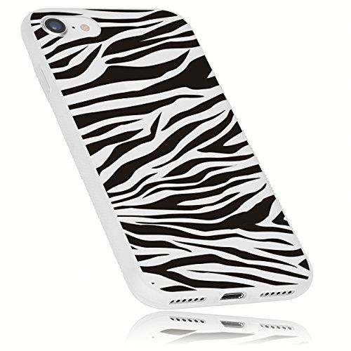 mumbi Funda compatible con iPhone 8/7, Cebra, blanco claro