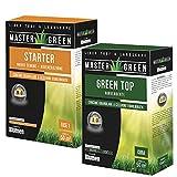 blumen set concime fertilizzante per tappeti erbosi - starter + green top rinverdente - per pre-concimazioni e carenze ferro - fino a 50mq per prodotto (starter+green top)