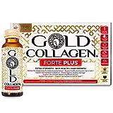 Gold Collagen Forte Plus   The Original #1 Liquid Collagen Anti Aging Beauty Supplement   Marine Collagen Drink with Hyaluronic Acid, Antioxidants, Vitamins & Minerals for Skin, Hair, Nails