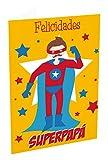 Grupo Erik Editores TF00233 - Tarjeta de felicitación, 11 x 16 cm, Felicidades Superpapá
