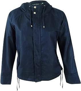 LAUREN RALPH LAUREN Karalea Women's Linen Blend Lace Up Hooded Jacket