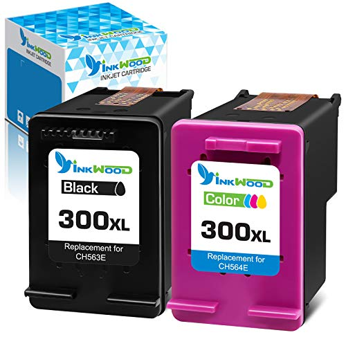 Inkwood Remanufactured 300XL Cartucho de Tinta 300 XL (Negro & Color) per HP PhotoSmart C4680 C4780 DeskJet F4580 F2480 F2400 F2420 F4280 F4500 D5560 Envy 100 F4500 C4780 120 D1658 D2530 D2566