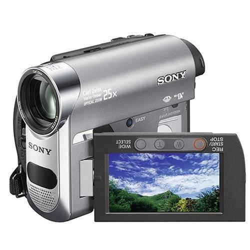 Sony DCR-HC62 Camcorder (MiniDV, 25-Fach Opt. Zoom, 6,9 cm (2,7 Zoll) Display, Bildstabilisator)