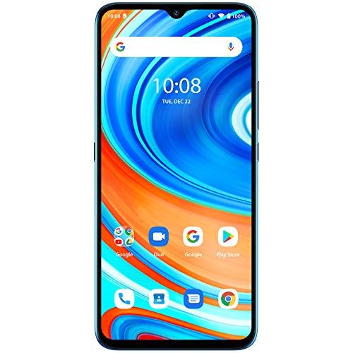 UMIDIGI A9 スマートフォン本体 Android 11.0 スマホ本体6.53HD+フルスクリーン SIMフリー 13MP+8MP+2MP 3眼カメラ 5150mAh大容量バッテリー RAM3GB+64GB ROM 顔認証 指紋認証 技適認証済(スカイブルー)