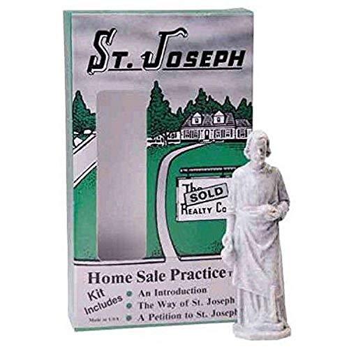 Design Toscano TW200 St. Joseph Home Sale Statue Kit, 3 Inch, Plastic, Antique Stone