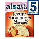 Alsa Levure du boulanger pour pains et brioches Les 5 sachets, 28g Prix Unitaire - Envoi Rapide et Soignée