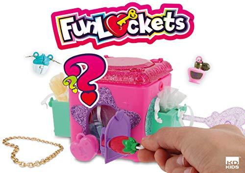Funlockets, caja para secretos, juguete para niña, escape, sorpresas, joyas, modelo aleatorio (rosa/morado), 4 años