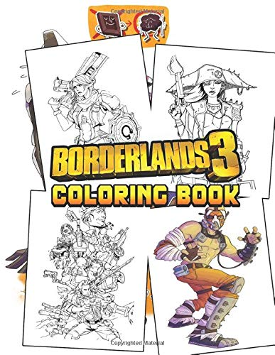 Borderlands Coloring Book: Ultimate Color Wonder Borderlands Coloring Book, Wonderful Gift for Kids And Adults