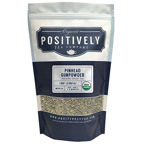 Positively Tea Company, Organic Pinhead Gunpowder, Green Tea, Loose Leaf, 1 Pound Bag